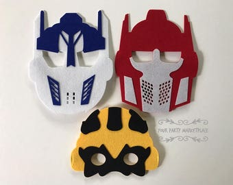 SET OF 3 Transformers Masks, Transformers Party Favors, Transformers Birthday,Transformers Party,Transformers Party Decorations,Rescue Bots