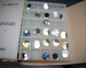 Pack of 12 ~ VINTAGE Genuine Swarovski Crystal 8mm Aurore Boreale Comet Argent Light VZ Unfoiled #4861 Undrilled Beads Made In Austria