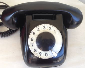 Antique Telephone RWT(POLAND) Black bakelite