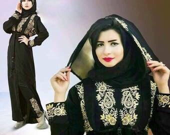3xl Dubai Abaya Kaftan Maxi Dress Evening occasions with scarf&trouser