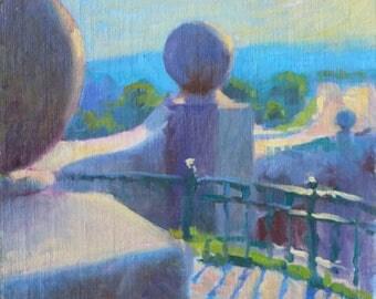 "Original 10x12 Oil Painting ""Monumental Bridge"" Original Oil Painting Impressionist Landscape New England New Hampshire Landscape Scene Art"