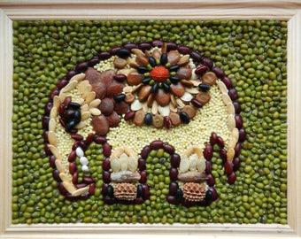 """Seed Mosaic """"An Elephant"""