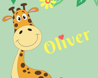 Nursery Digital Print - Giraffe