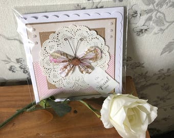 Handmade hand-stitched on your special day birthday card