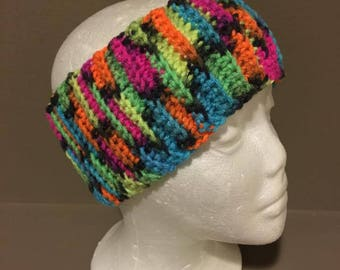 Limelight color wide ribbing headband - stretches