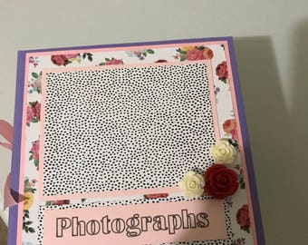 Wallet size photo chipboard album