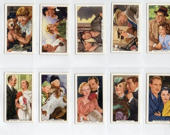 "Full set of 48 ""Film Episodes"" Cigarette Cards from 1936"