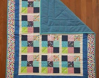 Colourful Nine-patch Quilt