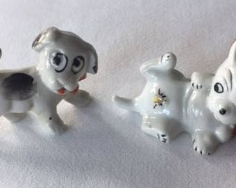 Vintage Dog Figurines made in Japan 1950s