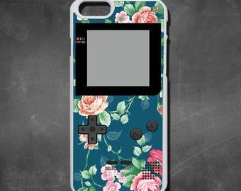 Retro floral gameboy 2 iphone 7 case, iphone 7 plus case, iphone 6/6s , iphone 6s  case, iphone 6 plus case, iphone 5/5s case, 5c case, 4/4s