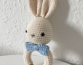 Rattle, greifling amigurumi Bunny