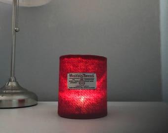 Tealight Lantern - Harris Tweed