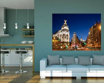Picture Madrid - on canvas with wood frame.