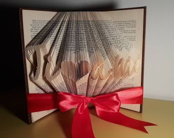 Libro decorativo - TI <3 AMO - Idee regalo . Book art - Folder book