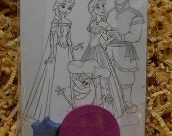 Frozen Custom Crayon Party Pack of 10