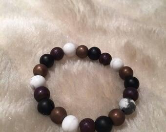 Purple X Gold Hematite X Howlite X Black Onyx