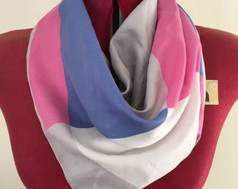 Vintage scarf- geometric pink & purple