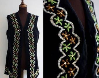 RESERVED! Velvet 1960s Vest / Vintage Velvet Waistcoat