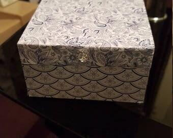 Decoupaged trinket box