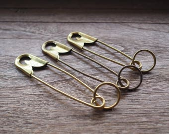 Giant Safety Pin _a Vintage Keyring