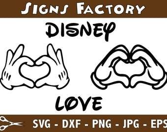 SVG, disney mickey heart hands, disney mickey hands, disney, cut file, printable file, cricut, silhouette, instant download