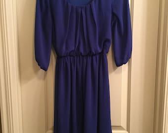 BCX 3/4 Sleeve Sheer Dress