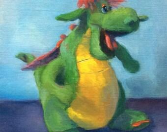 Little Dragon ORIGINAL painting