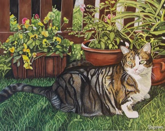 Ocean Grove Cats and Dogs 5 x 7 Note Cards - Ernie-2