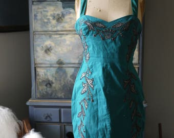 New Free People Turquoise Gem Dress