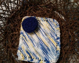 Kitchen Gift Set: Crocheted Scrubbie and Knit Washcloth