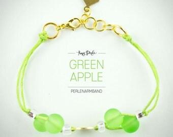 """Pearl bracelet """"Green Apple"""""""