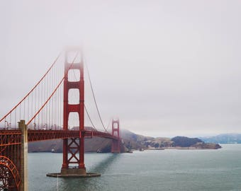 Golden Gate Bridge in Fog - Art Print - San Francisco