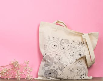 TOTE BAG FLOWERS