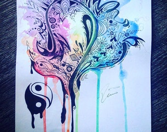 Feather Watercolor/ Custom Art