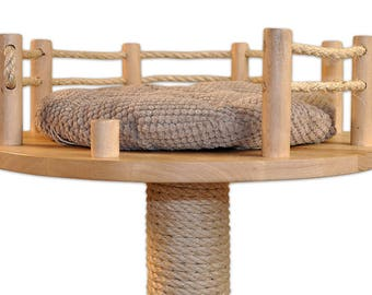 Cat Tree, Scratching Post - Solid, Stable, Heavy Base, Handmade Cat Accessories, Pet Accessories, Cat Furniture