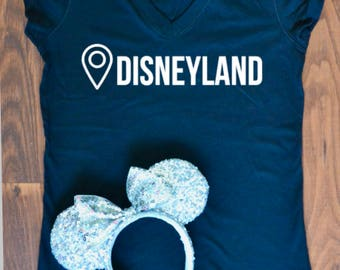 "Disneyland ""You are here"" woman's Tee"