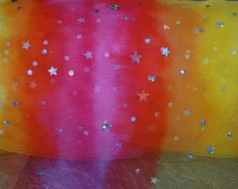 star galaxy tulle 10%stretch Free shipping