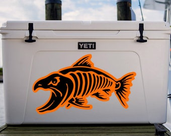 Bone Fish Sticker, Bone Fish Decal, Decals For Yeti Coolers, Kayak Decal, Boat Decals, Fishing Decals, Fish Stickers, Yeti Decal, Fishing