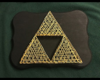Zelda String Art Triforce