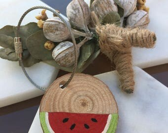 Wooden Key Chains - Watermelon