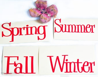 Custom Sticker Vinyl Four Seasons Summer Fall Winter Spring  Decoration Gift
