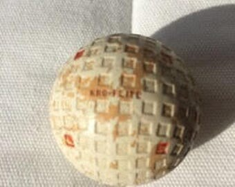 """Vintage square dimple golf ball, believed from 30's,  mystery """"bonus ball"""" included with purchase!"""