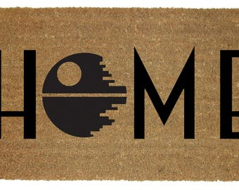 DEATH STAR doormat-  Star Wars decor