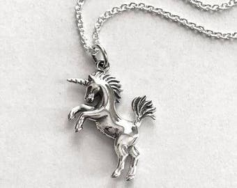 Unicorn Necklace - Sterling Silver