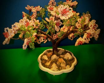 Peach Blossom beaded bonsai