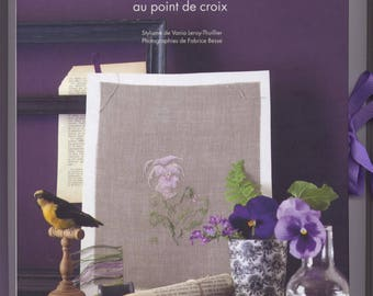 Book of thoughts and VIOLETS of Marie-Thérèse Saint Aubin cross stitch