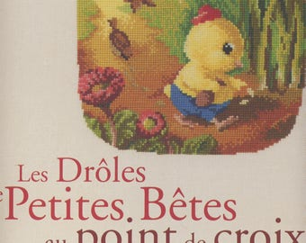 book the funny little animals cross-stitch - Véronique Enginger