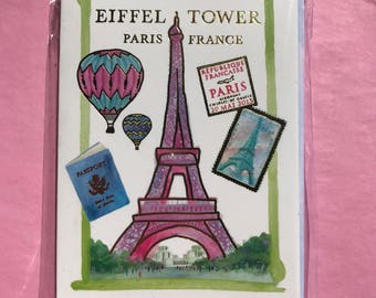 Eiffel Tower Notecards and Envelopes