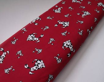Dog Print Fabric- SALE - Fabric Finds Fabric - 58 inches wide - 1 Yard