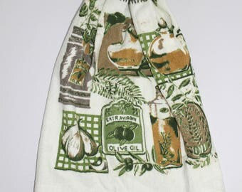 Cooking print hand towel